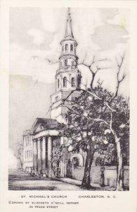 South Carolina Charleston Saint Michaels Church Artvue