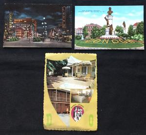 3 Postcard (2) Linen (1) (not) Unused Canal St Landmarks New Orleans LA LB
