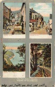 Views of Clovelly High Street Post Office Hobby Drive Postcard