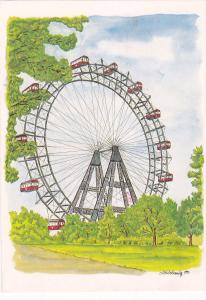 Viennese Giant Ferris Wheel, Prater Amusement Park, Vienna, Austria, PU-1994