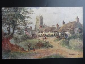 Isle of Wight GODSHILL & Church Old Postcard Art W.W.Quartermain by J.Salmon 776