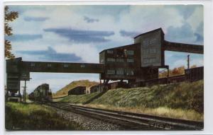 Banning Colliery P&LE Railroad Train Jacobs Creek PA Howard Fogg postcard