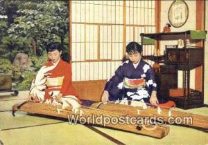 Japan Playing the Koto, Dulcimer Playing the Koto, Dulcimer