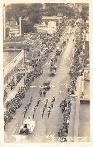 Billings Montana~Go Western Parade (1947)~Marching Band~Floats~Horses~RPPC