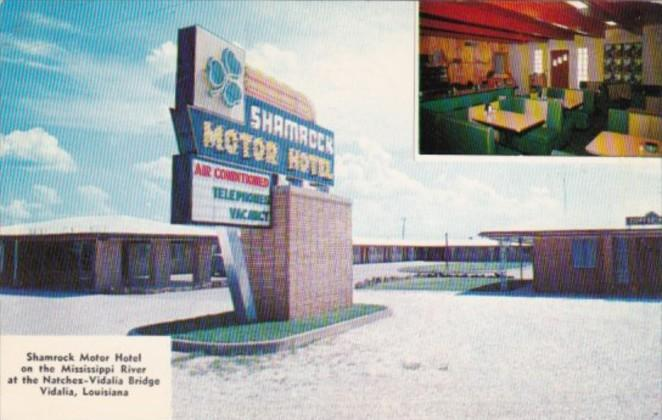 Louisiana Vidalia Shamrock Motor Hotel 1956
