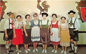 Frankenmuth Michigan~Frankenmuth Bavarian Inn~Employees in Costumes~'77 Postcard