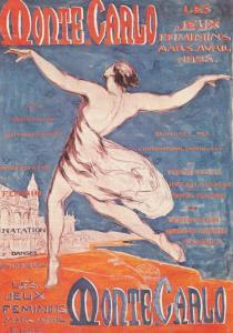 Monte Carlo 1920s Feminist Gay Interest Dances Exhibition Advertising Postcard