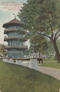BALTIMORE, Maryland, PU-1912; Observatory, Patterson Park, Canons