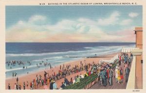 WRIGHTSVILLE BEACH, NC, 1930-40s; Bathing in the Atlantic Ocean at Lumina