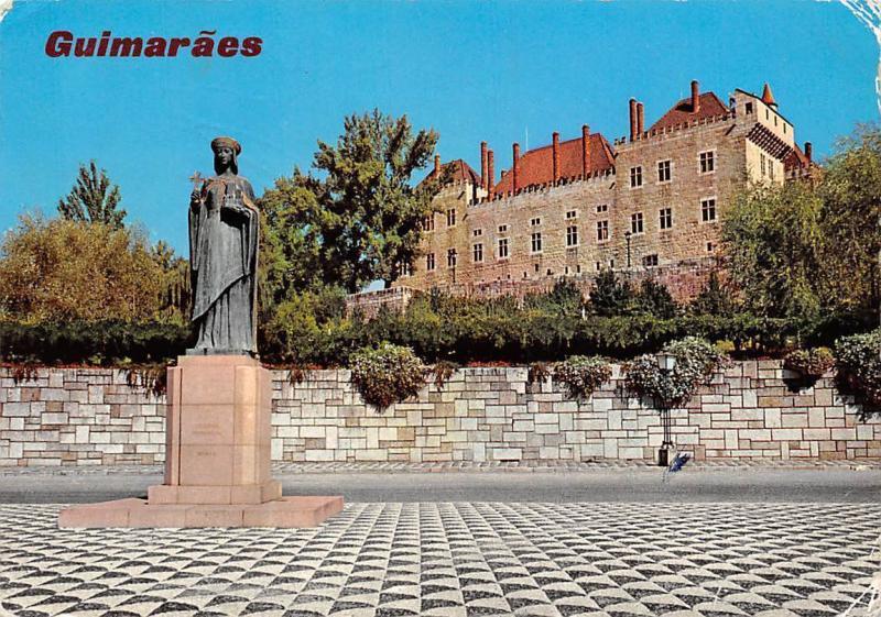 Portugal Guimaraes Mumadona's Square Palace of the Dukes of Braganca Statue