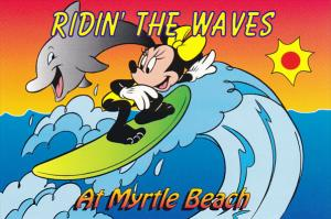 Disney Company Surfing Riding The Waves At Myrtle Beach