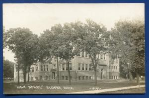 Algona Iowa ia High School Trees real photo postcard RPPC #2