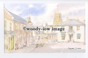 DS194 - Devon - Street Scene in Colyton, Artist - David Skipp - Postcard