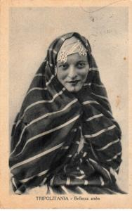 Arab Woman with Tribal Tatoo. Libya - Garian 1935