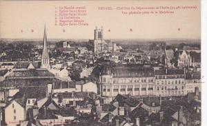 France Troyes Vue generale prise de la Madeleine