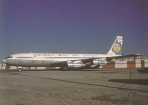 Golden Sun Air Cargo, Boeing 707-321C, unused Postcard