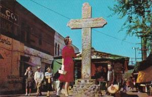 California Los Angeles Olvera Street Historical Cross