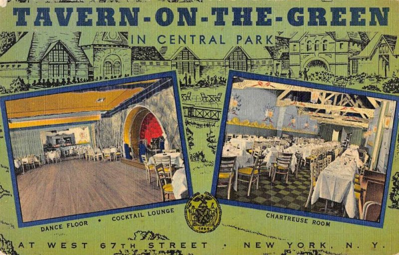 New York City New York multi-views Tavern-On-The-Green antique pc ZC548663