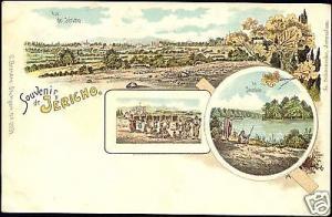 palestine israel JERICHO, Jordan, Panorama (1899) Litho