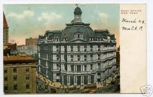 Post Office New York City 1906 postcard