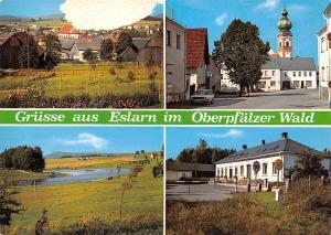 Gruesse aus Eslarn im Oberpfaelzer Wald Gesamtansicht Kirche Church