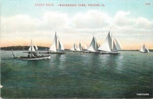 C-1910 Toledo Ohio Yacht Race Walbridge Park Bossleman postcard 13395
