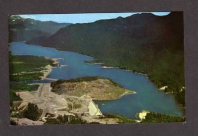 WA Puget Power Company Baker Lake Dam North Cascades WASHINGTON State Postcard
