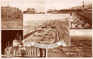 Brighton View form West Pier, Boating Pool, Pavilion by Night, Dyke Hills 1937