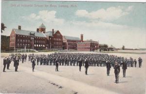 Michigan Lansing Drill At Industrial School For Boys 1910