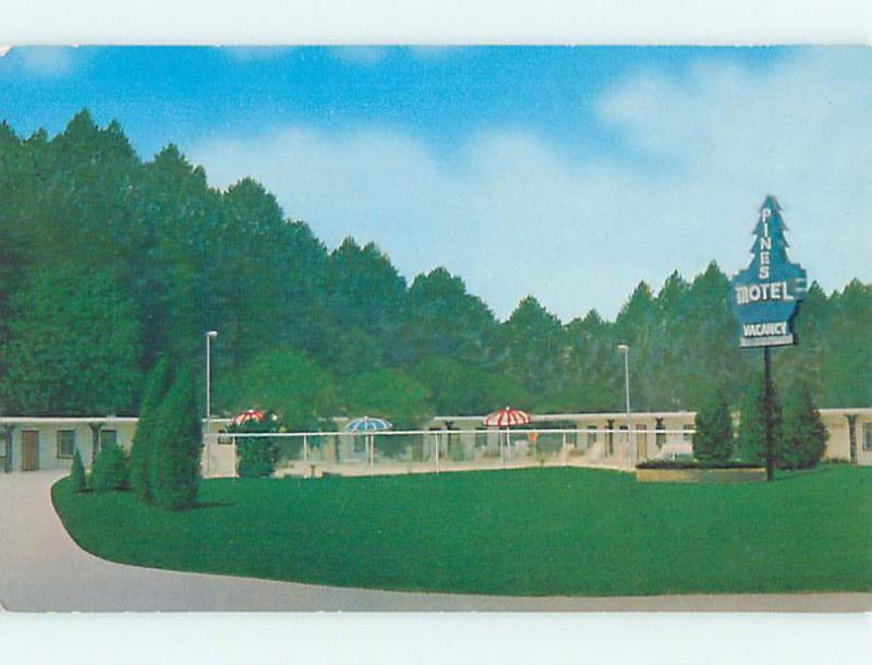 Unused Pre-1980 PINES MOTEL Marietta Georgia GA n7496