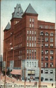 Portland OR Marquam Building c1905 Postcard World's Fair Cancel