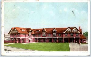 Hutchinson, Kansas Postcard THE BISONTE HOTEL Front View Fred Harvey 1912 Cancel