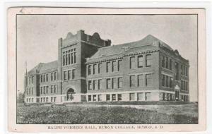 Vorhees Hall Huron College Huron South Dakota 1908 postcard