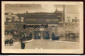dc1391 - MALTA Valletta 1910s Porta Reale by Grech