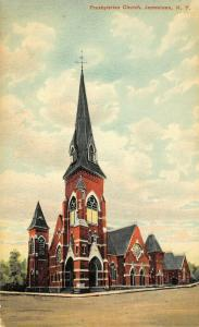 Jamestown New York~Presbyterian Church Corner~1908 Postcard