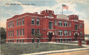 G16/ East Palestine Ohio Postcard 1910 High School Building