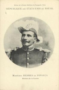 brazil, Minister of War Marshal Hermes Rodrigues da Fonseca (1906) Mission