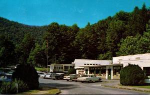 North Carolina Fontana Village Resort Village Center Street Scene 1966