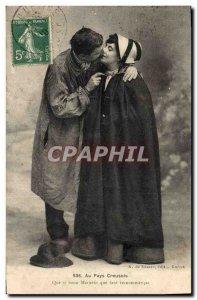 Old Postcard Folklore Au Pays Creuois