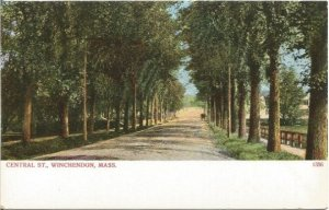 Central St., Winchendon Massachusetts pre 1907 Undivided Back Postcard Vintage