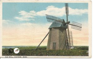 Old Mill Chatham Massachusetts Windmill in Countryside 1919 Curteich Postcard