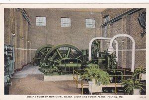 FULTON , Missouri , 1910s ; Engine Room Power Plant