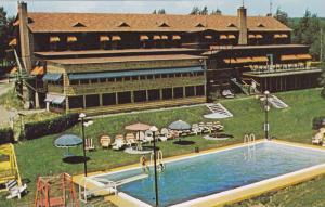 Swimming Pool,  Beau Site Hotel, overlooking beautiful Lake Magog,  Sherbro...