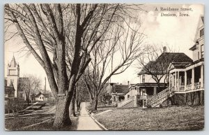Denison IA~United Presbyterian Church, 1st Ave @ 14th St~Homes w/Porches 1910 PC