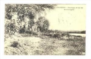 Paysage et lac de Kurunegala, Colombo , Ceylon, PU-1907