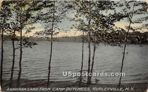 Anawana Lake from Cap Dutchess Hurleyville NY 1912