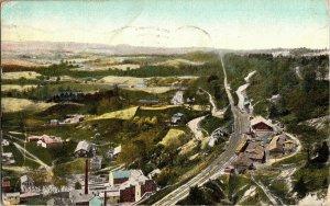 View Overlooking Dundas Valley West. Ontario c1909 Vintage Postcard B20
