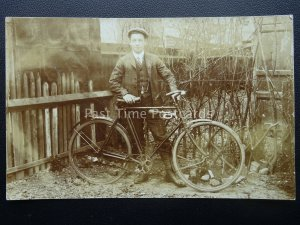 Birmingham Handsworth Area YOUNG MAN PROUDLY SHOWS HIS BICYCLE - Old RP Postcard