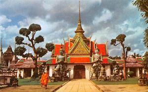 Dhonburi Thailand Giant at Wat Aroon the gardian of Tempe of Dawn Dhonburi Wa...