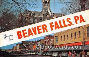 Beaver Falls Pennsylvania, USA Postcards Post Cards Old Vintage Antique Penns...